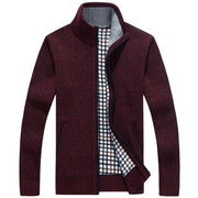West Louis™ Velvet Cashmere Sweater Cardigan Red / M - West Louis