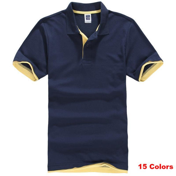 West Louis™ Designer Solid Cotton Polo Shirt [ 15 Colors ]  - West Louis