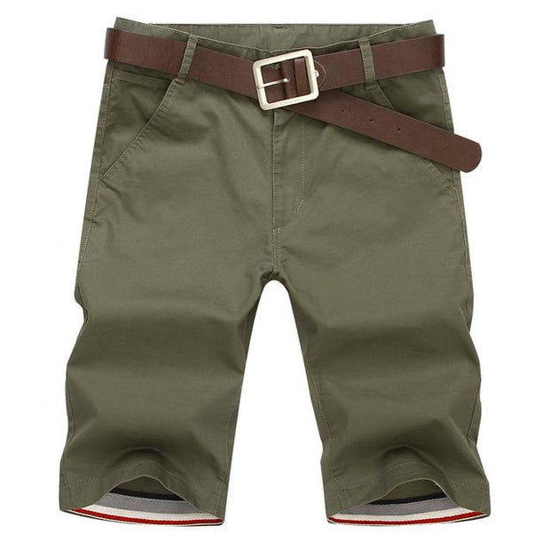 West Louis™ Casual Cotton Slim Shorts AmryGreen / 28 - West Louis