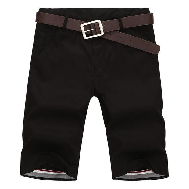 West Louis™ Casual Cotton Slim Shorts Black / 28 - West Louis