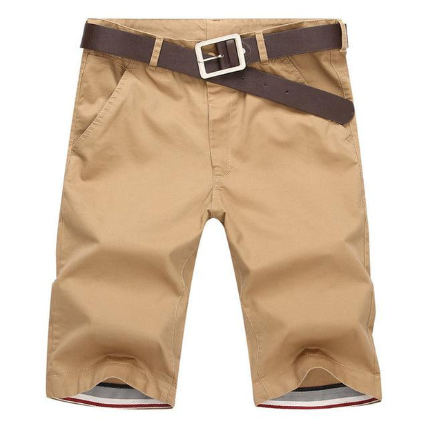 West Louis™ Casual Cotton Slim Shorts Khaki / 28 - West Louis