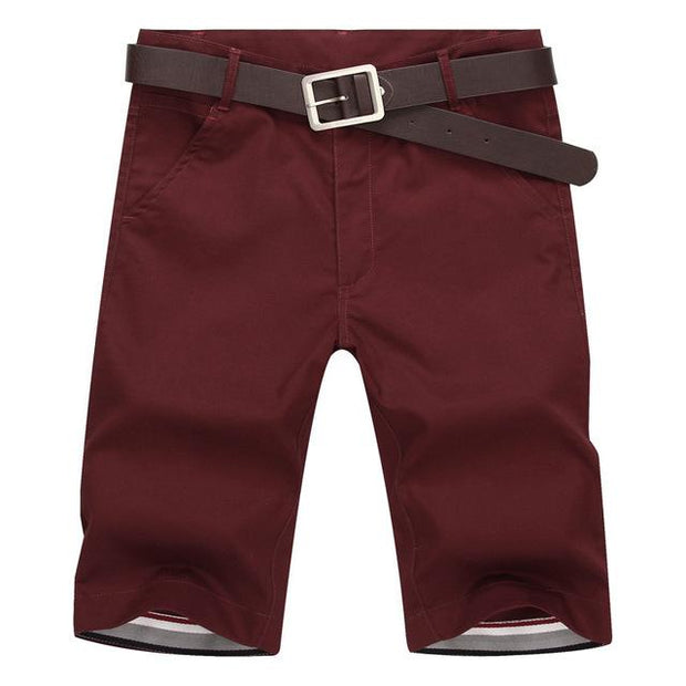 West Louis™ Slim Bermuda Masculina Beach Shorts RedWine / 28 - West Louis