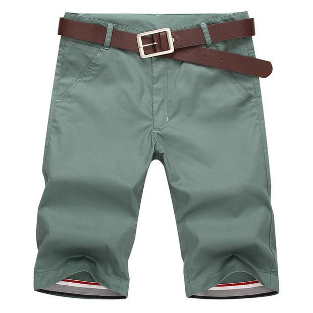 West Louis™ Casual Cotton Slim Shorts Green / 28 - West Louis