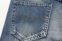 West Louis™ Brand Slim Cowboy Jeans  - West Louis