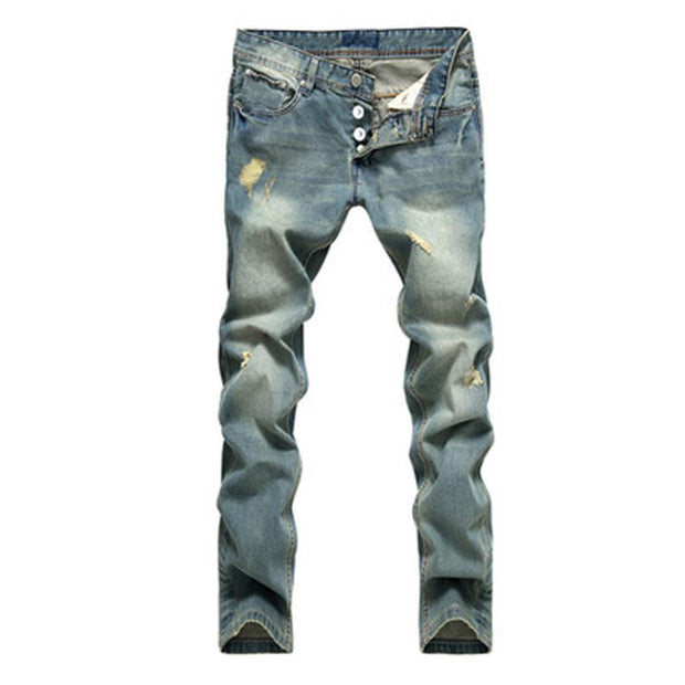 West Louis™ Cotton Tinted Cowboy Jeans  - West Louis