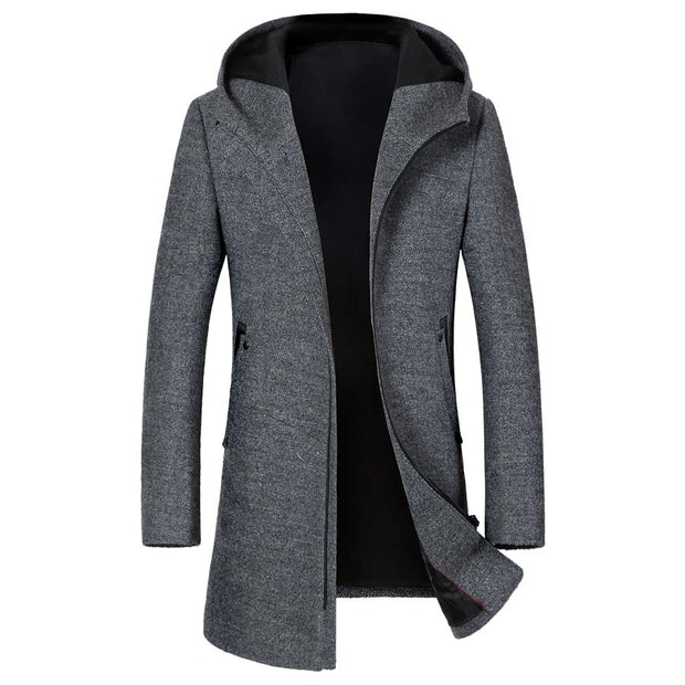 West Louis™ Middle Long Thick Warm Overcoat