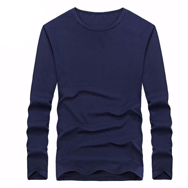 West Louis™ Cotton Solid Color Long Sleeved T Shirt  - West Louis