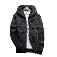 West Louis™ Moleton Masculino Men's Hooded Zipper Coat Black / M - West Louis
