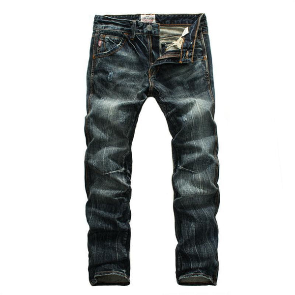 West Louis™ Brand Soft Denim Jeans  - West Louis