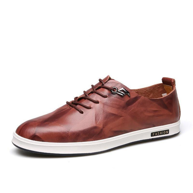 West Louis™ England Fashion Embossing Lace-Up Shoes Brown / 6.5 - West Louis