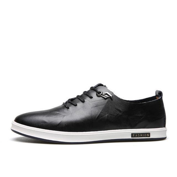 West Louis™ England Fashion Embossing Lace-Up Shoes Black / 6.5 - West Louis