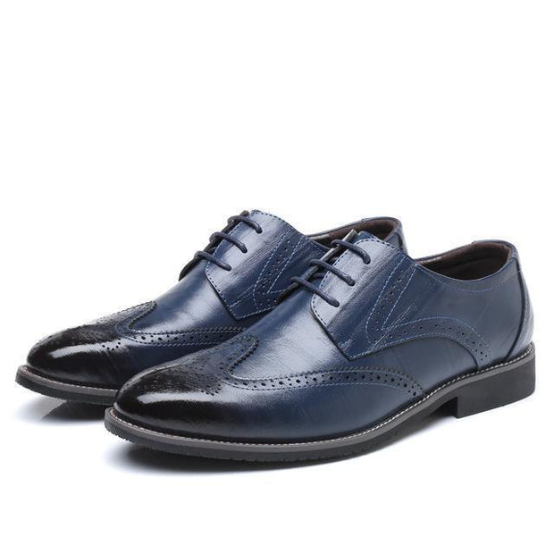 West Louis™ Business Dress Brogue Shoes For Party Blue / 11 - West Louis