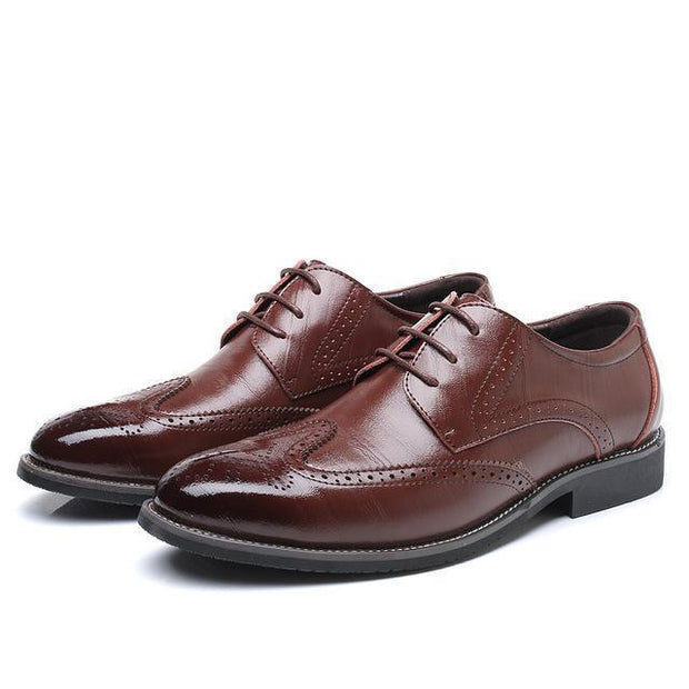 West Louis™ Business Dress Brogue Shoes For Party Brown / 11 - West Louis