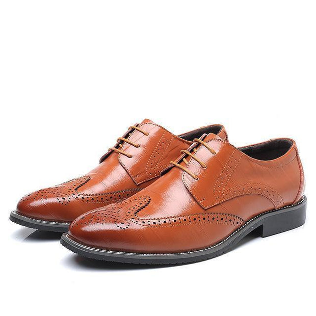 West Louis™ Business Dress Brogue Shoes For Party Yellow / 11 - West Louis