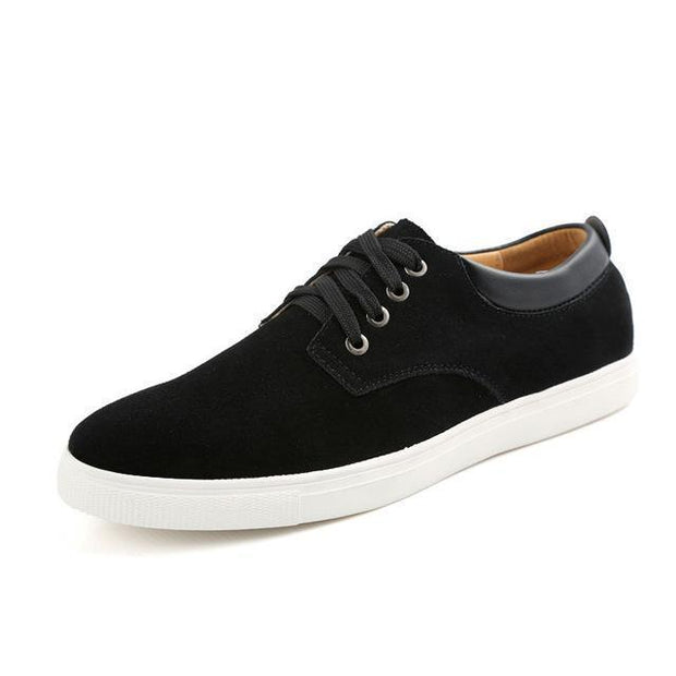 West Louis™ Frosted Suede Flat Shoes Black / 9 - West Louis
