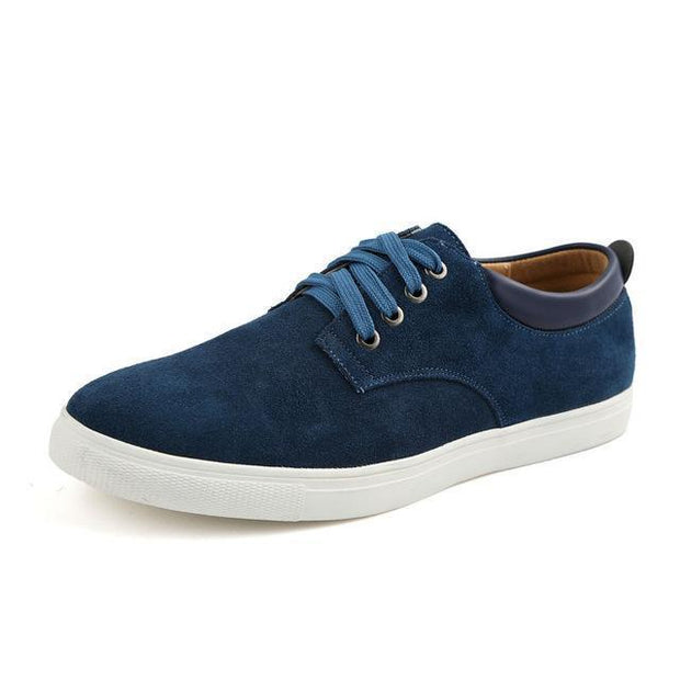 West Louis™ Frosted Suede Flat Shoes Blue / 9 - West Louis