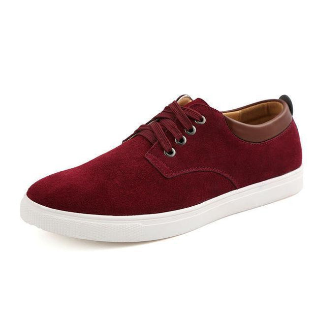 West Louis™ Frosted Suede Flat Shoes Wine red / 9 - West Louis