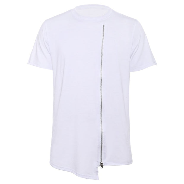 West Louis™ Leisure Tee Tops Asymmetrical T-Shirt White / S - West Louis