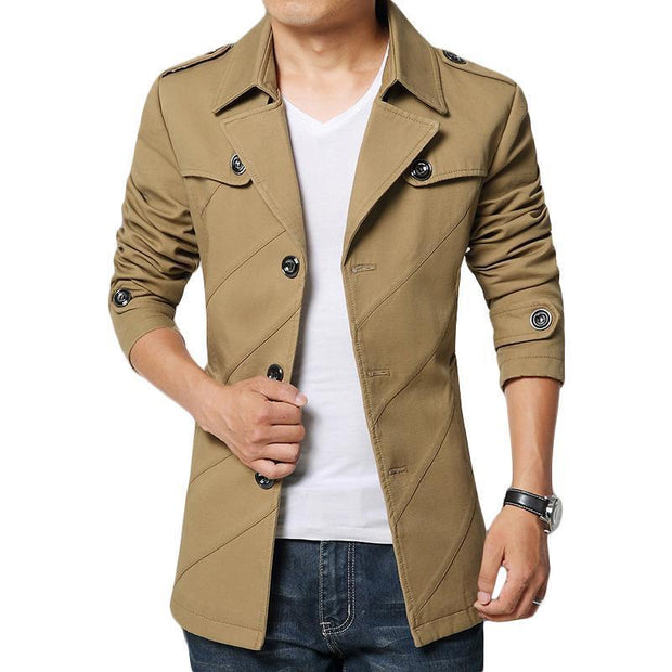 West Louis™ Cotton Parka Long Blazer Khaki / S - West Louis