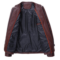 West Louis™ Autumn Soft PU Leather Motorcycle Jacket