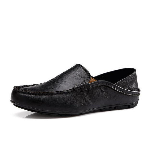 West Louis™ Autumn Leather Flats Moccasins Black / 11 - West Louis