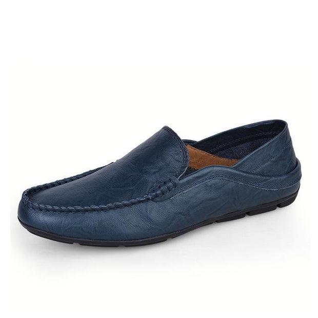 West Louis™ Autumn Leather Flats Moccasins Blue / 11 - West Louis
