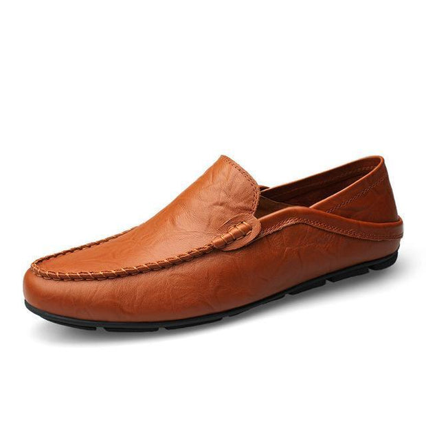 West Louis™ Autumn Leather Flats Moccasins Brown / 11 - West Louis