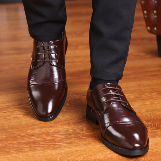 West Louis™ Oxfords Gentlemen Dress Leather Shoes  - West Louis