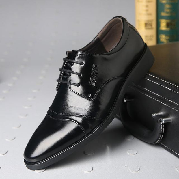 West Louis™ Oxfords Gentlemen Dress Leather Shoes Black / 5 - West Louis