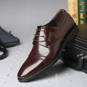 West Louis™ Oxfords Gentlemen Dress Leather Shoes Brown / 5 - West Louis