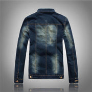 West Louis™ Warm Removable Fur Collar Slim Jacket  - West Louis