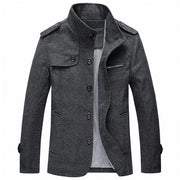 West Louis™ Winter Standing Collar Jacket Dark gray / M - West Louis