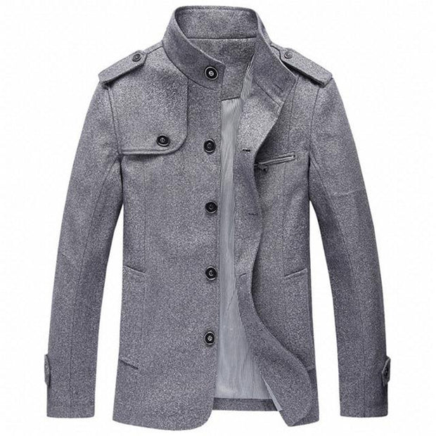 West Louis™ Winter Standing Collar Jacket Light gray / M - West Louis