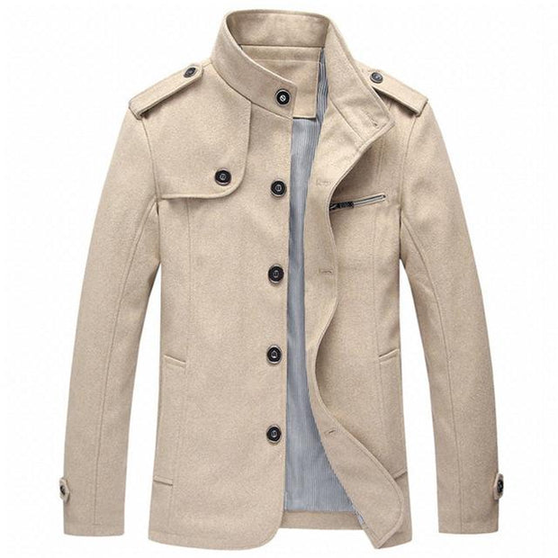 West Louis™ Winter Standing Collar Jacket Khaki / M - West Louis