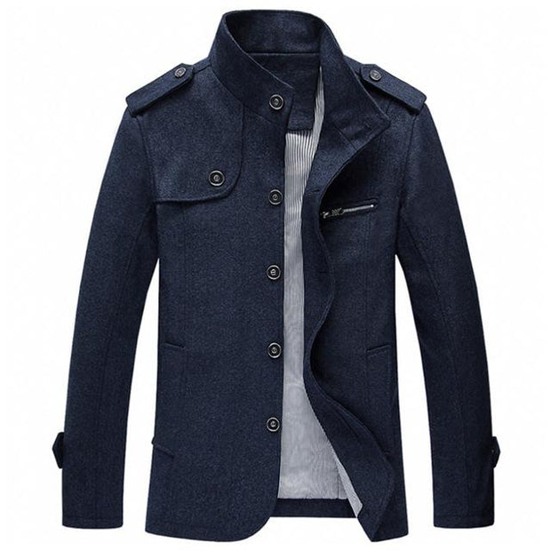 West Louis™ Winter Standing Collar Jacket Navy Blue / M - West Louis