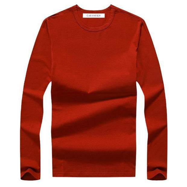 West Louis™ Cotton Male Long Sleeves Shirt Red / L - West Louis
