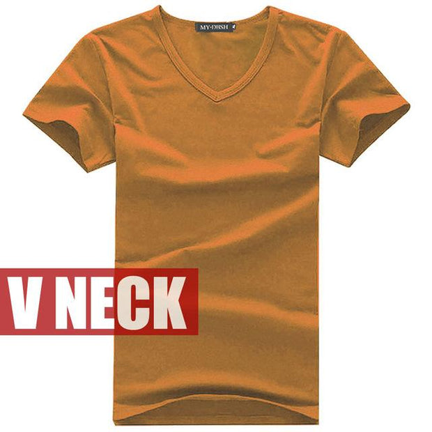 West Louis™ V-neck Cotton T-Shirt Orange / S - West Louis