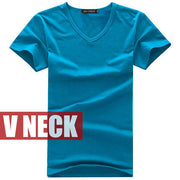 West Louis™ V-neck Cotton T-Shirt Blue / S - West Louis