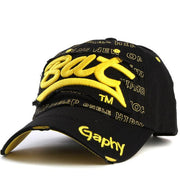 West Louis™ Gorras Curved Brim Baseball Cap black yellow - West Louis