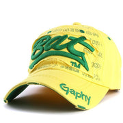 West Louis™ Gorras Curved Brim Baseball Cap yellow - West Louis