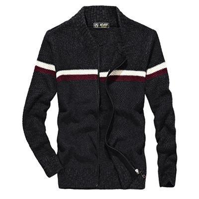 West Louis™ Knitted Wear Casual Baseball Collar Cardigan Black / M - West Louis