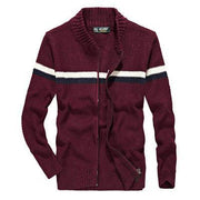 West Louis™ Knitted Wear Casual Baseball Collar Cardigan Red / M - West Louis