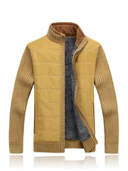 West Louis™ Thickening Men's Zipper Sweater Yellow / M - West Louis