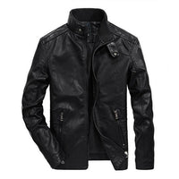 West Louis™ Classical Motorcycle Men Leather Jacket