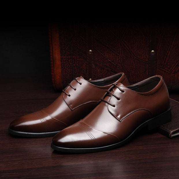 West Louis™ Business Genuine Leather Oxford Shoes  - West Louis
