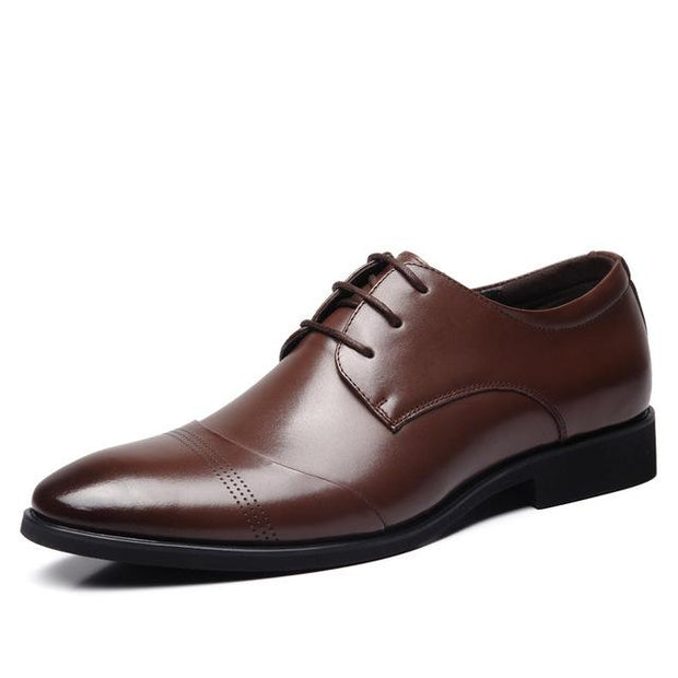 West Louis™ Business Genuine Leather Oxford Shoes Brown / 6 - West Louis