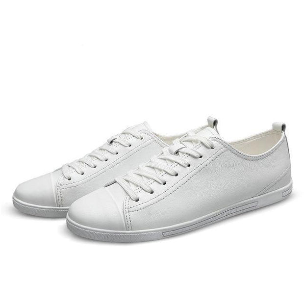 West Louis™ Genuine Leather Breathable Comfortable Shoes White / 11 - West Louis