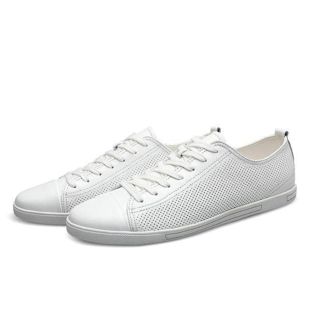 West Louis™ Genuine Leather Breathable Comfortable Shoes Hollow White / 11 - West Louis