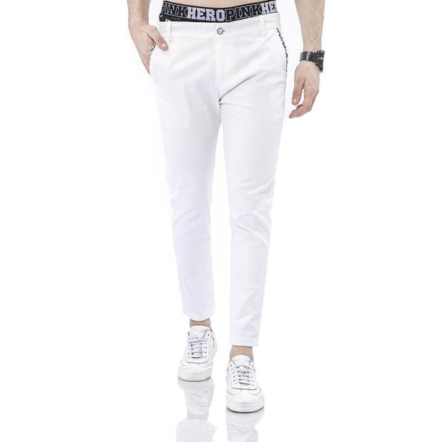 West Louis™ Business Dress Slim Jogger Trousers white / XS - West Louis