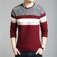 West Louis™ O Neck Striped Pullover  - West Louis